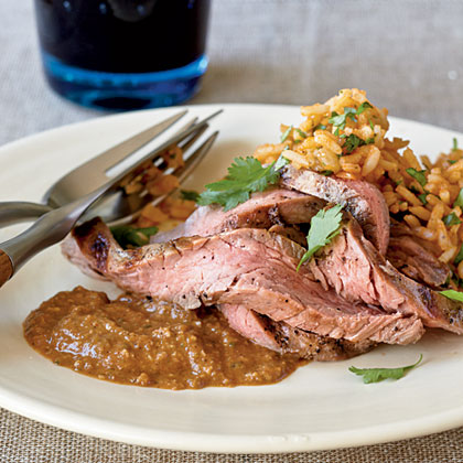 Bison Steak with Poblano Mole
