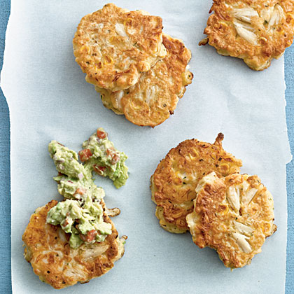 Corn and Crab Fritters with GuacamoleRecipe