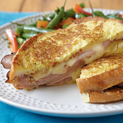 Instead of your usual ham and cheese, try this sandwich that's enhanced by the zip of whole-grain mustard.Dijon Croque Monsieur