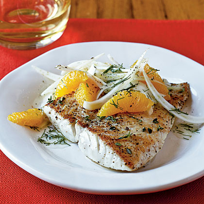 Sautéed Snapper with Orange-Fennel Salad