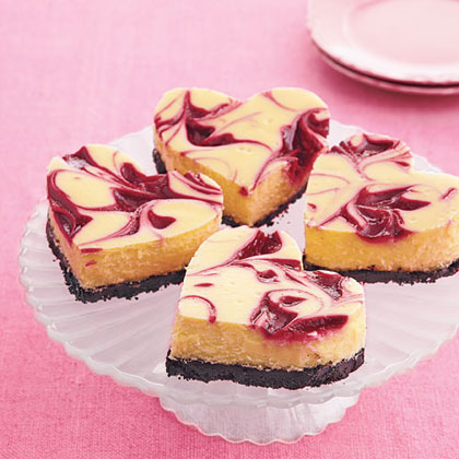 <p>Raspberry-White Chocolate Cheesecake Bars</p>