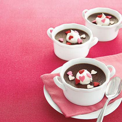 Chocolate Pots de Crème RecipeSix ingredients are all you need to show someone you care. Make this oh-so cute recipe for Valentine's Day, or anytime you need a special dessert.