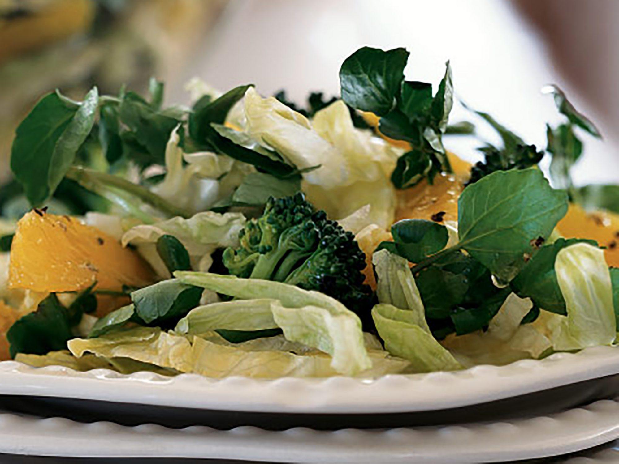 Broccoli, Orange, and Watercress Salad