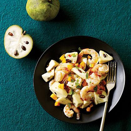Cherimoya with Chile Lime Shrimp