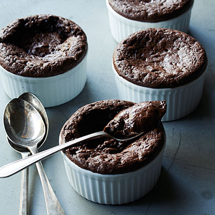 Molten Chocolate Mousse CupsRecipe
