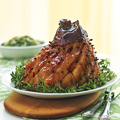 Mustard and Molasses Glazed Ham