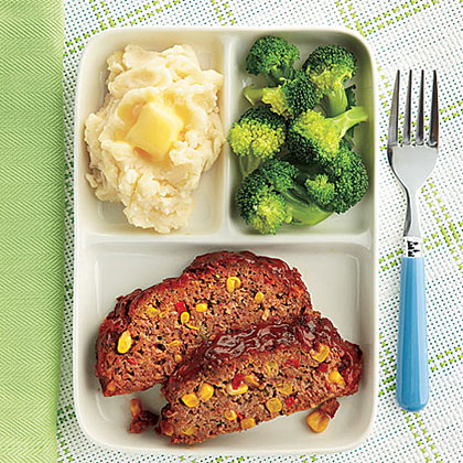 Southwestern Meat Loaf RecipePresentation is everything! If you have a picky eater, segment the food using a fun container.