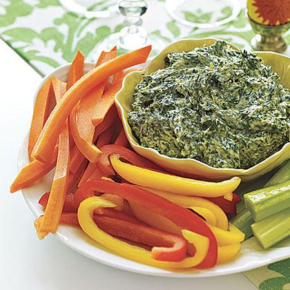 Spinach Dip with Crudités Recipe