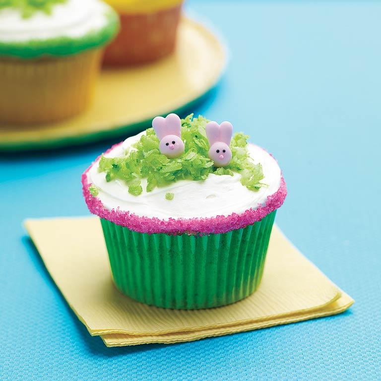 Sweet Li'l Bunny Cupcakes Recipe | MyRecipes.com