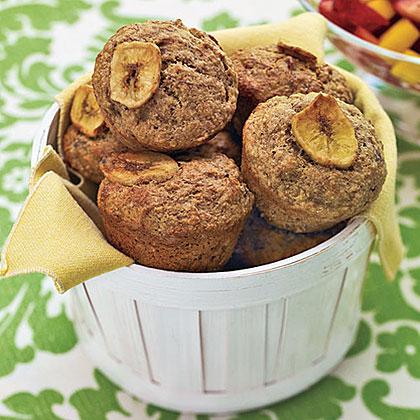 Whole-Wheat Banana MuffinsRecipe