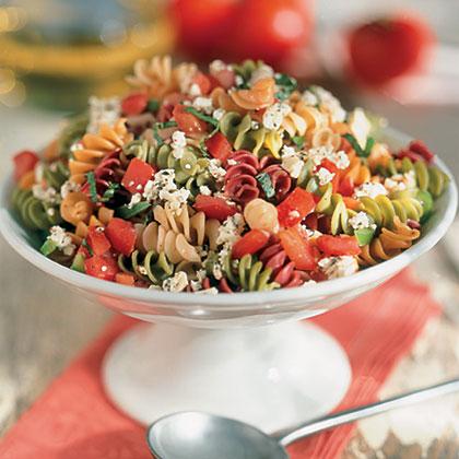 Greek Vegetable Rotini Salad