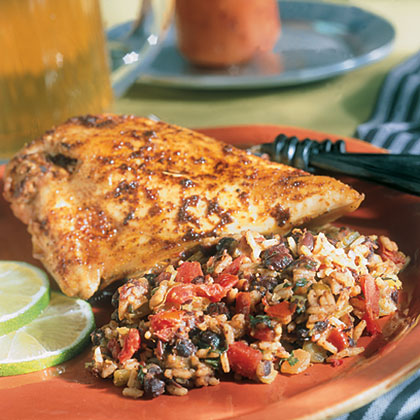 Spicy Lime Chicken with Spanish-Style RiceRecipe
