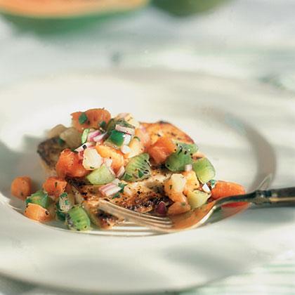 Pan-Seared Mahimahi with Tropical Salsa