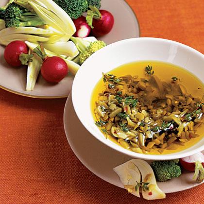 Olive Oil Dip with Vegetables
