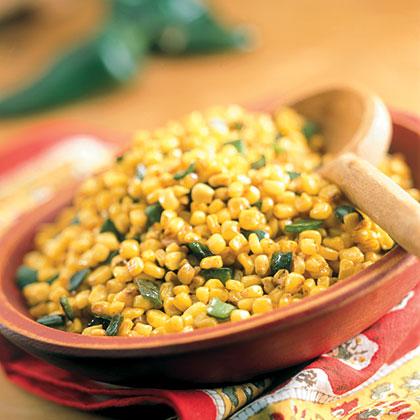 Skillet Poblano Corn