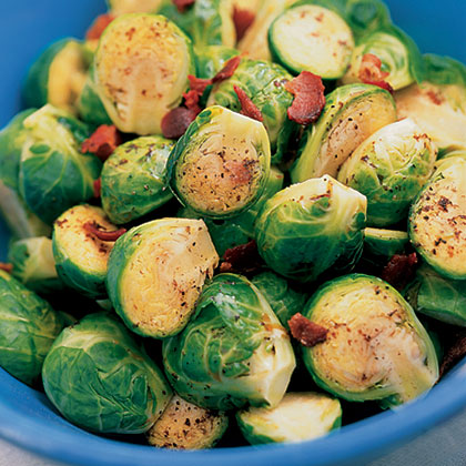 Sweet-and-Sour Brussels Sprouts with Bacon