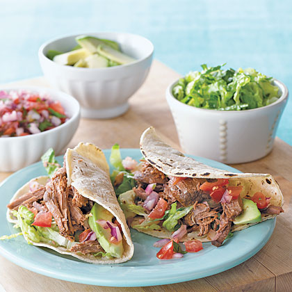 Chili-Beef Soft Tacos