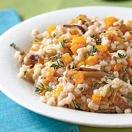 Barley, Butternut Squash, and Shiitake Risotto