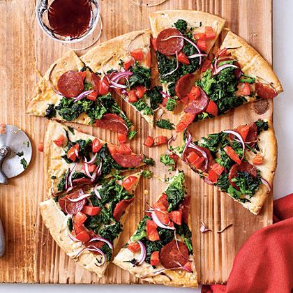 Manchego and Chorizo Pizza