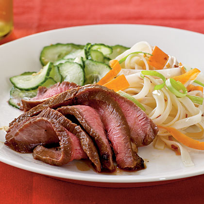 <p>Maple and Soy-Glazed Flank Steak</p>