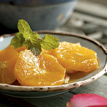 Orange Slices with Honey and Orange Blossom Water