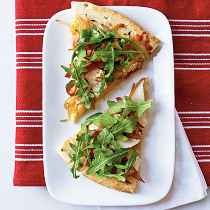 Pear and Prosciutto Pizza