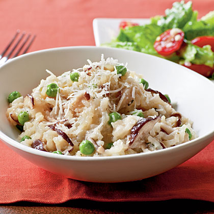 Shiitake and Sweet Pea Risotto Recipe | MyRecipes.com