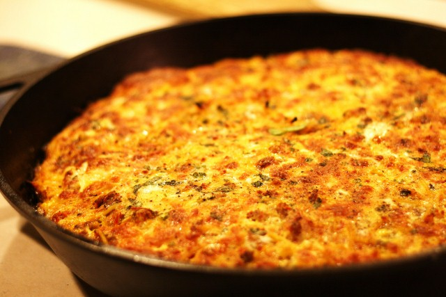 Cast Iron Cooking: Spaghetti Frittata