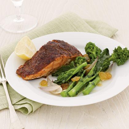 salmon-broccoli-rabeRecipe