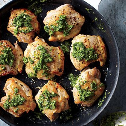 Chicken Thighs with Cilantro SauceRecipe