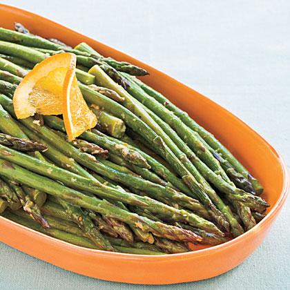 Roasted Orange-Ginger Asparagus