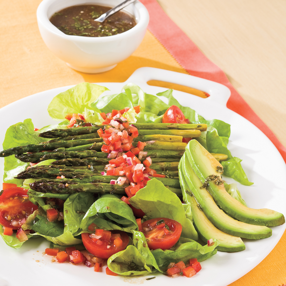 Roasted Asparagus Salad Recipe