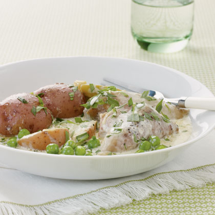 Slow Cooker Chicken With Tarragon and Leeks