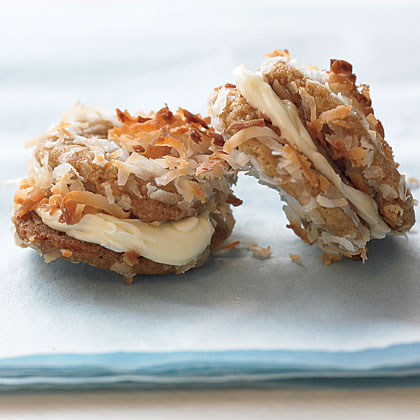 Just like the buddy system, this double cookie delight fills two cookies with creamy white chocolate. Use two Samoas, Dulce de Leches, or a Do-Si-Dos split in half to make these decadent, cream-filled sandwich cookies.Recipe: White Chocolate Snow Balls
