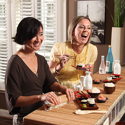 Girls Night Host A Sushi Party Myrecipes