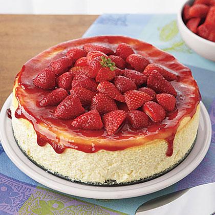 Ricotta Cheesecake with StrawberriesRecipe
