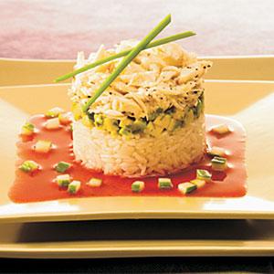 Crab & Lemongrass Rice Tower Recipes