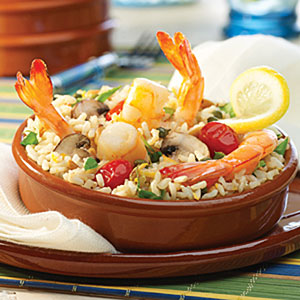 Basque-Style Shrimp with Lemon Basil Brown Rice Recipes