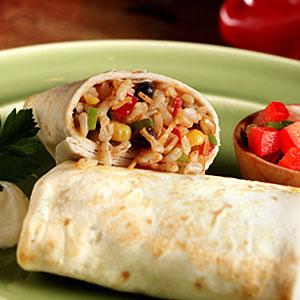 Brown Rice and Black Bean Burrito Recipe | MyRecipes