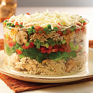 Mediterranean Layered Rice Salad Recipes
