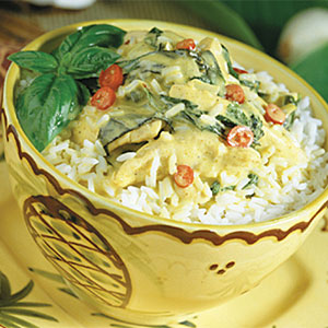 Curried Coconut Chicken and Rice Recipes