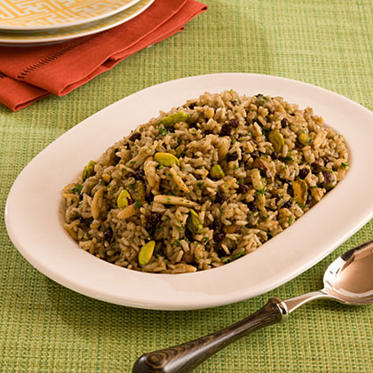 Almond-and-Pistachio Brown Rice PilafRecipe