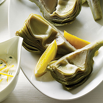 Artichokes with Garlic-Thyme Mayonnaise Recipe