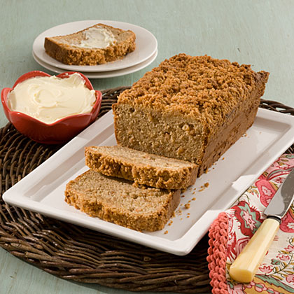 Cream Cheese-Banana Bread With Peanut Butter Streusel