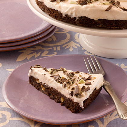 Mint Brownie Ice-Cream Pie