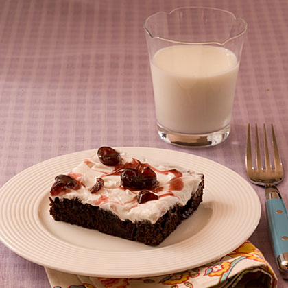 Black Cherry Brownies With Cherry Frosting