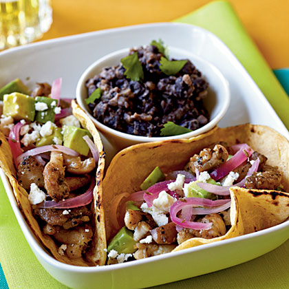 <p>Chicken Carne Asada Tacos with Pickled Onions</p>