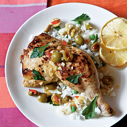 Chicken with Lemon and Olives Recipe