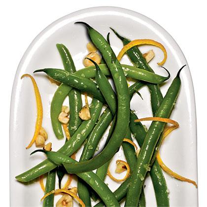 Green Beans with Orange and HazelnutsRecipe
