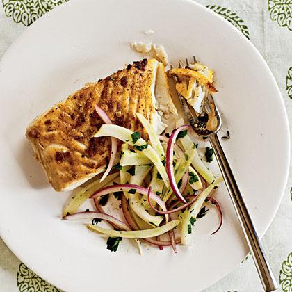 Halibut with Lemon-Fennel Salad